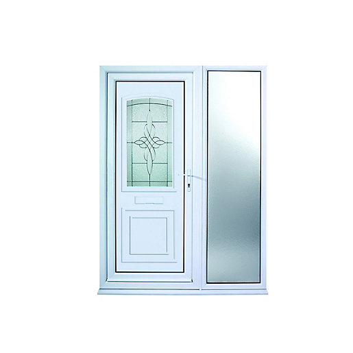 Mouse over image for a closer look.  sc 1 st  Wickes & Wickes Medway 1 Sidelight Upvc Door 2085 x 1520mm Left Hand Hung ... pezcame.com