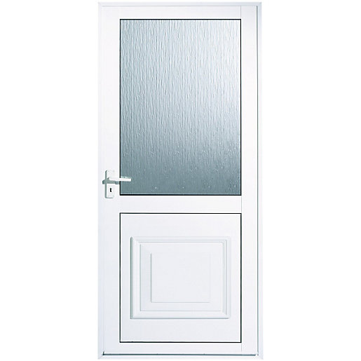 wickes tyne aluminium door glazed 1981 x 762mm right hand hung - Exterior Back Doors