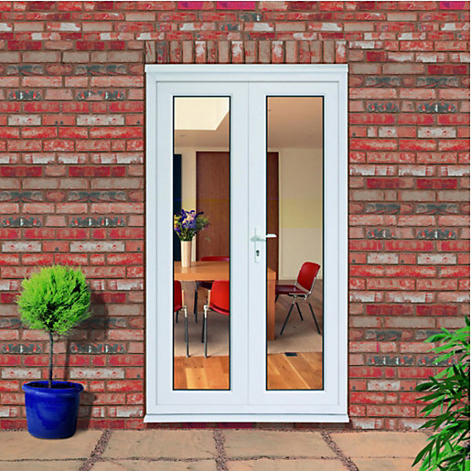 Wickes upvc french doors 4ft inward opening for Small exterior doors