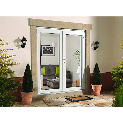 Wickes upvc french doors 4ft part m for 4 foot french doors exterior