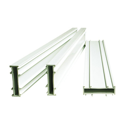 Wickes pvcu frame extender pack white 20x1850mm for Upvc door frame