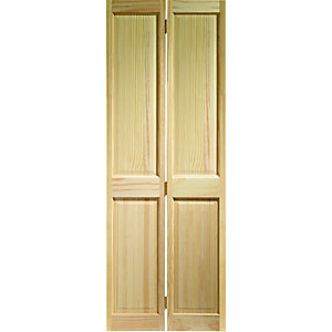 Wickes Skipton Internal Bi-fold Door Clear Pine 4 Panel 1981 x 762mm