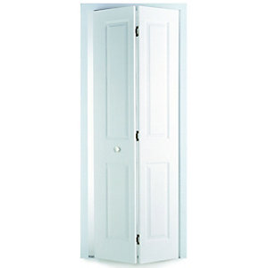 Wickes Stirling Internal Bi-Fold Door White Smooth Moulded 4 panel 1981x762mm