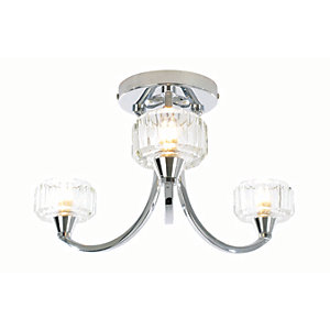 spa octans 3 light bathroom semiflush ceiling light chrome