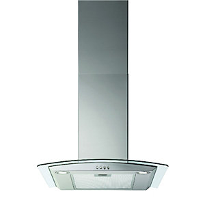 wickes curved glass designer cooker hood 600mm