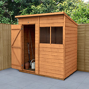 forest garden pent shiplap dip treated shed 6 x 4 ft