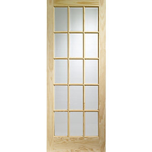 Internal glazed deals sale cheapest prices from wickes bq wickes whitby internal glazed pine 15 lite door 1981 x 838mm planetlyrics Gallery