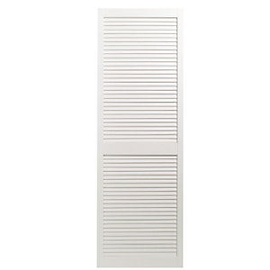 Wickes Internal Closed Louvre Door White Primed 1829 x 610mm