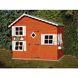 wickes loft bunk split level timber playhouse 8 x