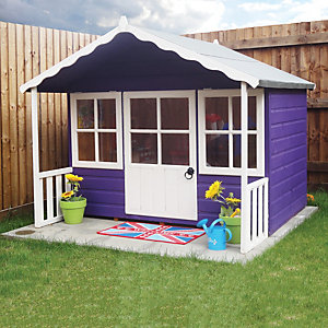 wickes pixie timber playhouse with veranda 6 x 5 ft