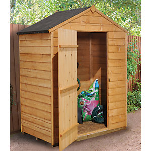 Forest Garden Windowless Apex Overlap Shed - 5 x 3 ft