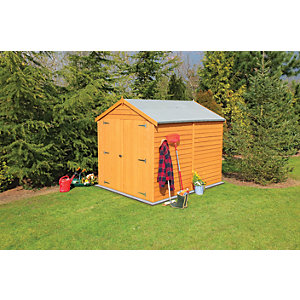 Wickes Double Door Windowless Overlap Apex Shed - 6 x 8 ft