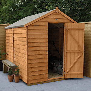 Wickes Windowless Dip Treated Timber Overlap Apex Shed - 6 x 8 ft