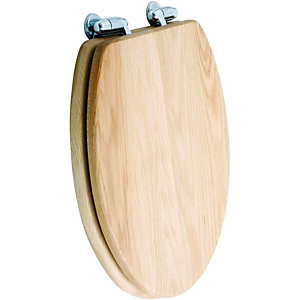 Wickes Oak Wood Effect Toilet SeatToilet Seats   Bathroom Toilets  Bathrooms   Wickes. D Shaped Wooden Toilet Seat. Home Design Ideas