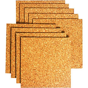 Wickes Sealed Cork Floor Tile 305 x 305mm Pack 9