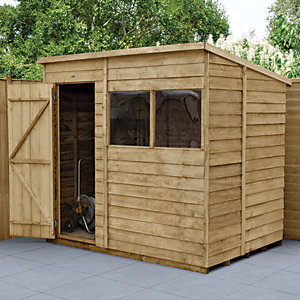 wickes pent overlap pressure treated shed 7 x 5 ft