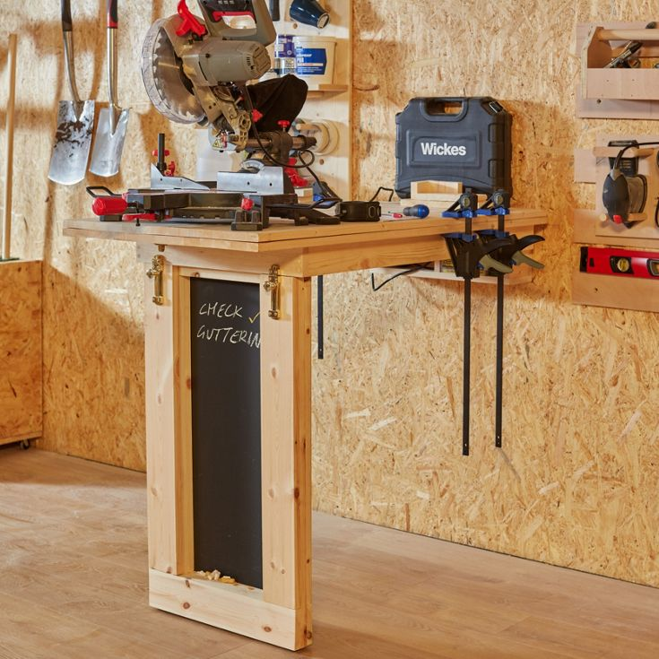 Build your own wall-mounted drop table