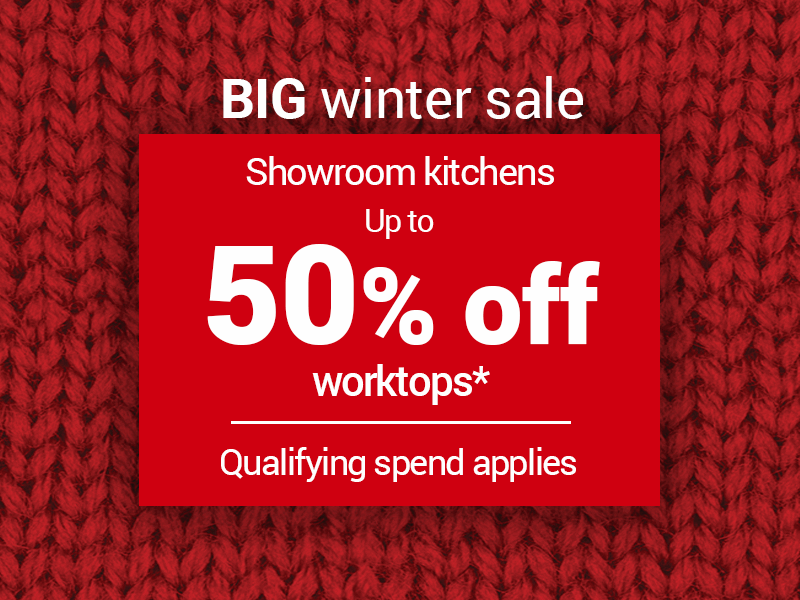 Up to 50% off worktops