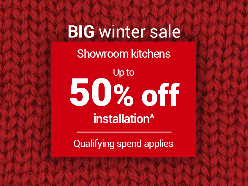 Up to 50% off kitchen installation^