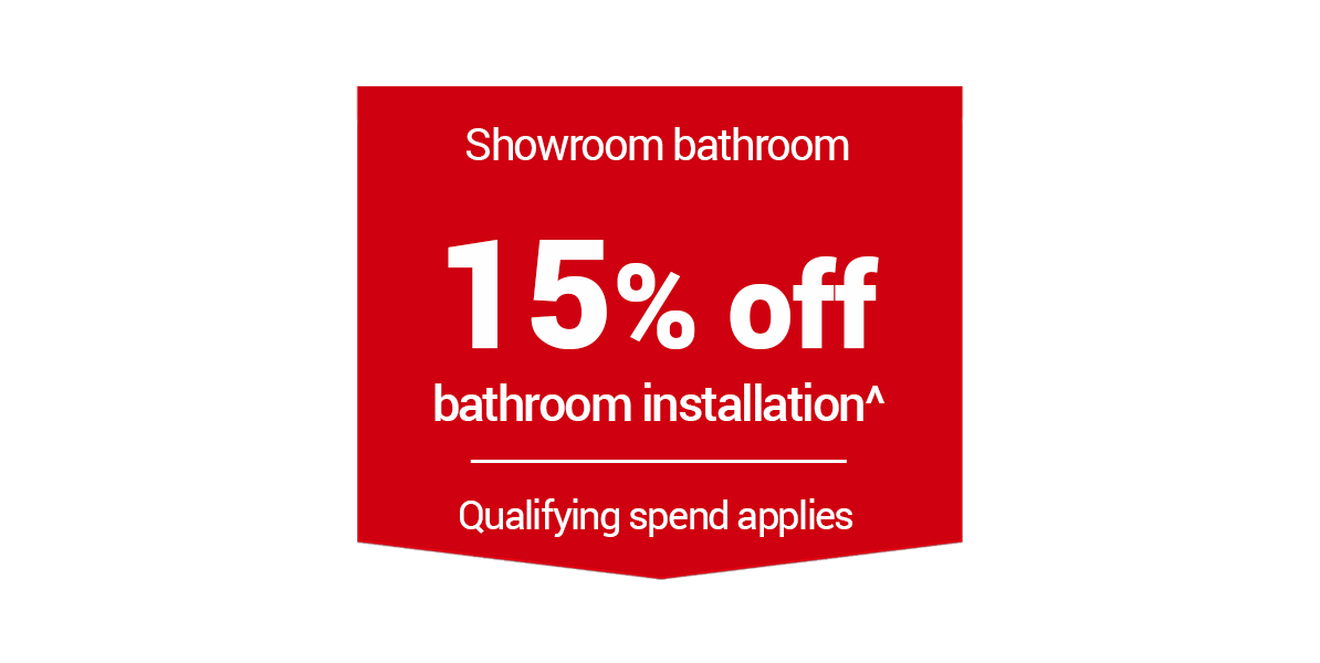 15% off Bathroom Installation
