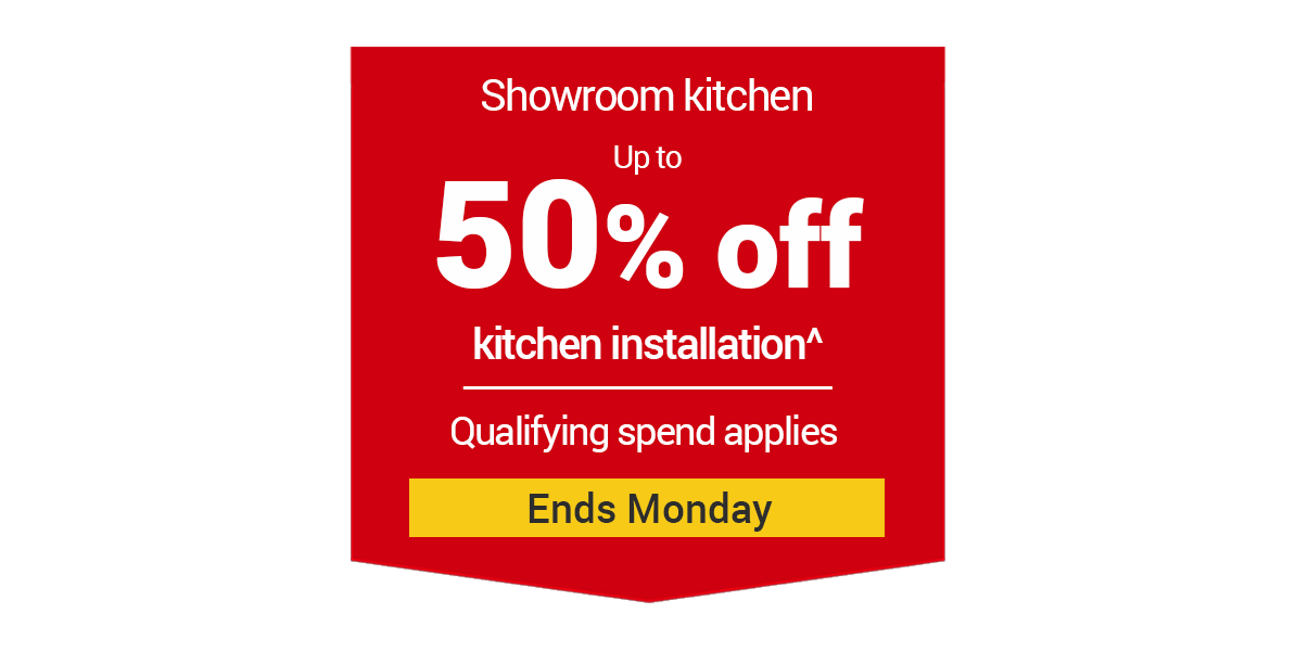 Up to you 50% off Kitchen Installation