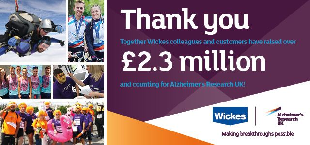 Wickes and Alzheimers Research UK