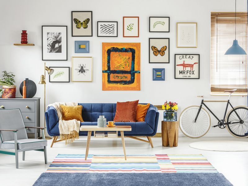 How to create a gallery art wall