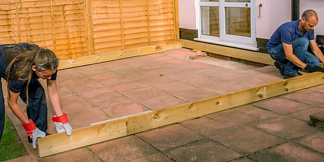 How To Plan Lay A Deck Wickes Co Uk