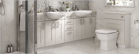 Fitted bathroom furniture bathrooms wickes for Wickes bathroom wallpaper