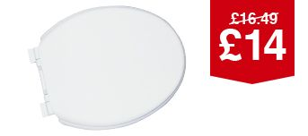 Wickes Thermoplastic Soft Close Toilet Seat