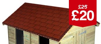 Red Roofing Shingles Pack 14 - 2M2