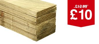 Feather Edge Fence Board - 1.8m Pack of 10