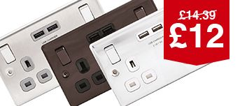 Wickes 13A Twin Switched Socket Wit...
