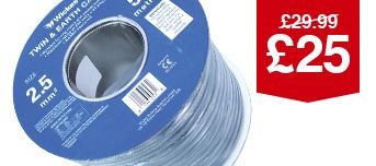 Twin & Earth Cable - 2.5Mm2 X 50M