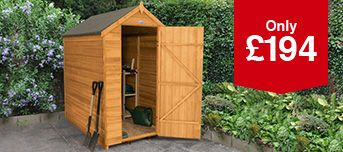 Forest Garden Apex Overlap Shed - 6 x 4 ft