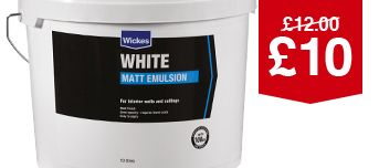 Wickes White Emulsion 10L
