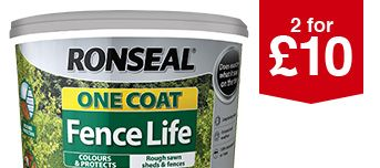Selected Ronseal One Coat Fence Life 5L