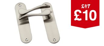 Elda Latch Handle Satin Nickel