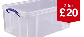 Really Useful 64L Clear Storage Box