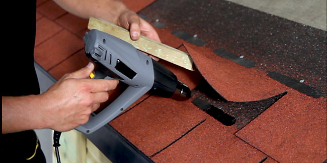Shingles installation