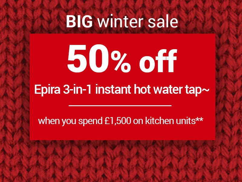 50% off Epira 3-in-1 instant hot water tap