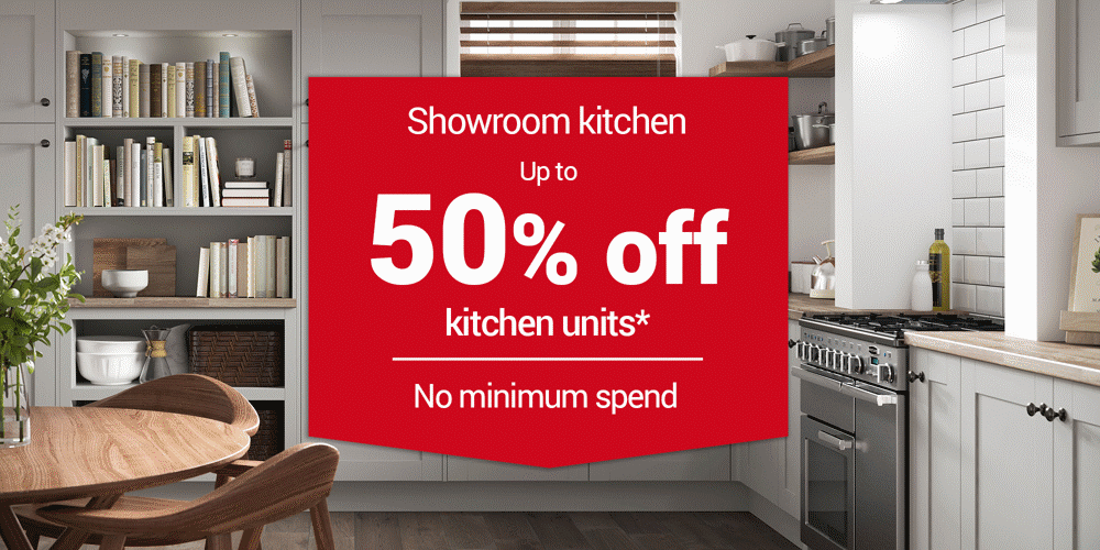 Upto 50% off Kitchen Units