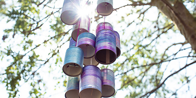 Tin can windchime