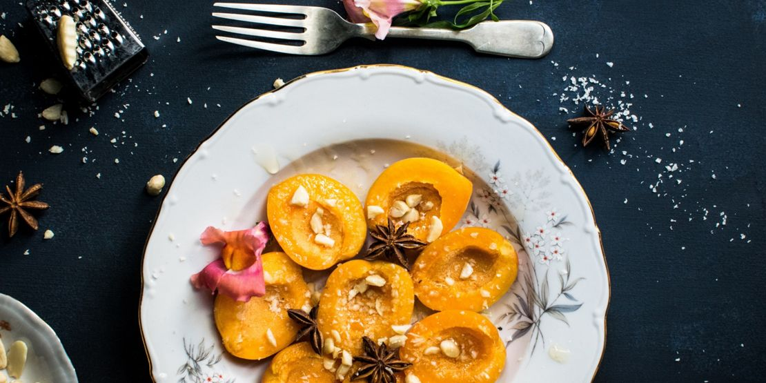 Grilled peach puds