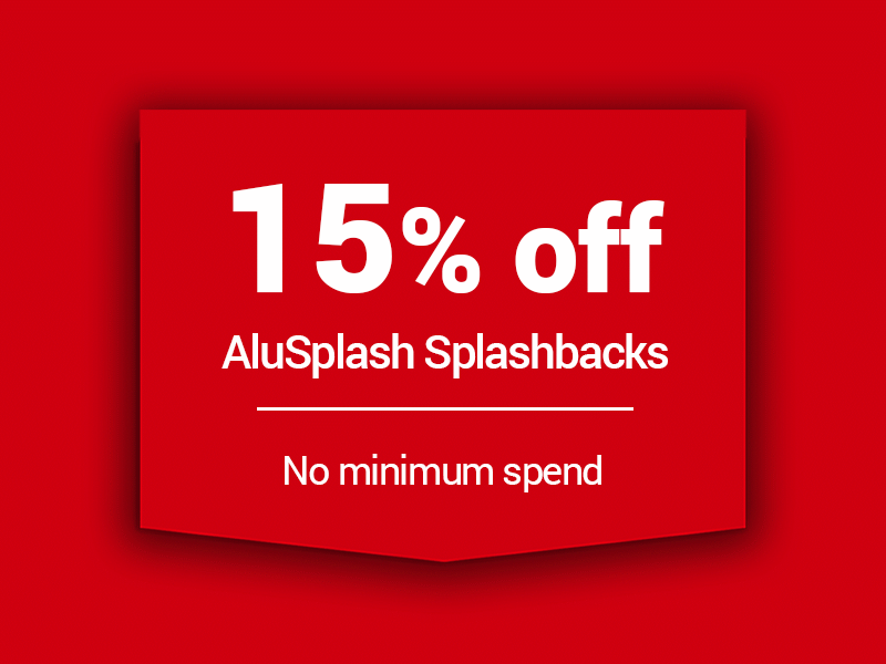 15% off alu splashbacks