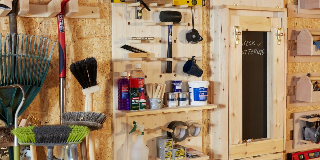 5 ways to use peg board storage