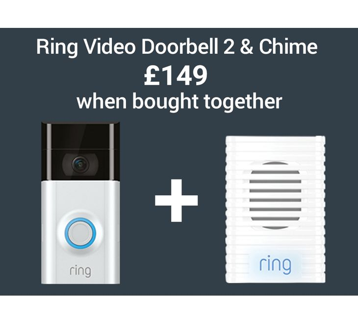 Ring Video Doorbell 2 & Chime £149 when bought together