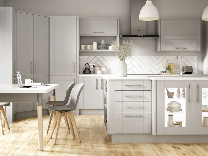 Grey Shaker Kitchen Milton Grey Kitchen Range Wickes