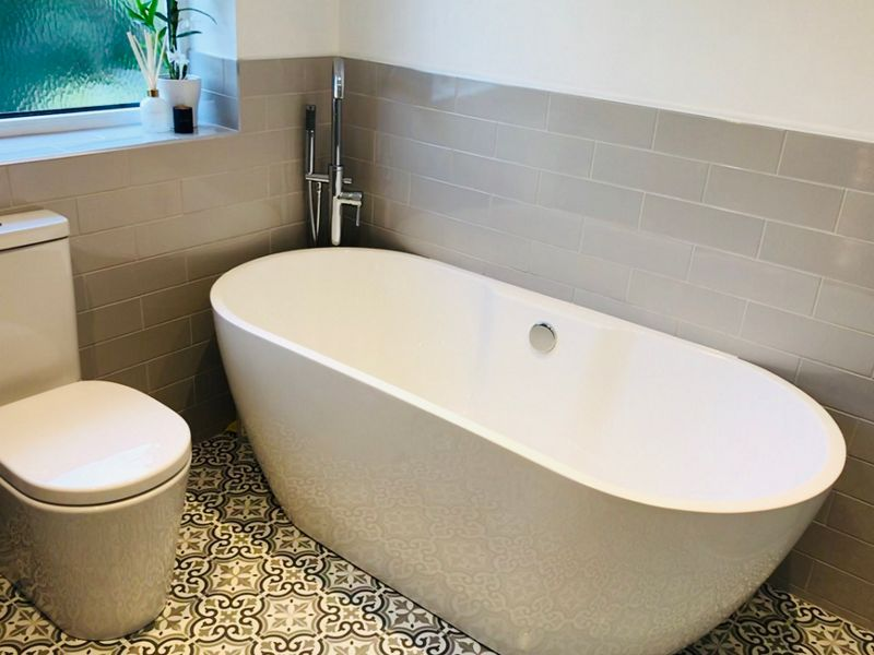 Wickes Melia Sage Patterned Ceramic Wall & Floor Tile