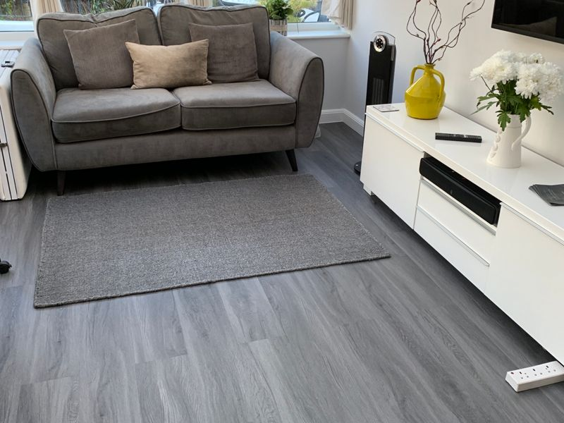Novocore Ascot Dark Grey Oak Luxury Vinyl Click Flooring